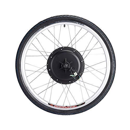 Sfeomi Elektrisches Fahrrad-Umbausatz 26 Zoll 36V 500W E-Bike Conversion Kit Elektro-Fahrrad Kit Ebike Elektrofahrrad Umbausatz Bürstenlose Motornabe Hinterrad (Hinterrad)