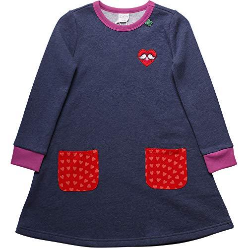 Fred'S World By Green Cotton Heart Dress Robe, Bleu (Denim 019402601), 98 Bébé Fille