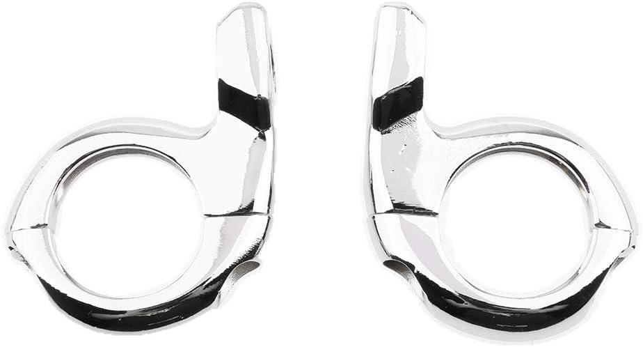 Non Brand 2 Stk Universal Spiegelhalter Lenkerklemme Für Motorrad Fahrrad Moped Roller Atv Silber Auto