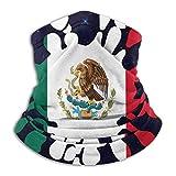 Neck Gaiter Mexiko Flagge Farbe Spritzhals Gamasche 26X30Cm Männer Frauen Arbeiten Gesichtsbedeckung Angelschule Kopfbedeckung Kaltes Wetter Winddichter Halswärmer Motorradfahren