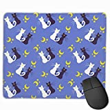 Sailor Moon Mouse Pad for Laptop, Large Gaming Mousepad Blue Rectangle Mouse Pad Sailor Moon Computer Mat Office Supplies