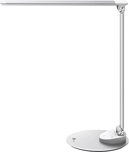 TaoTronics LED Desk Lamp with USB Charging Port, Eye-Care Dimmable Lamp, 5 Color Temperatures with 5 Brightness Level...