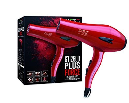 ID Italian Design | Secador de Pelo Profesional 3 Modos de Calor, 2 Velocidades de Color Rojo - 2200W