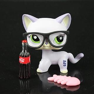 TGBVPet Shop Purple Cat Kitty Gafas de Ojos Verdeslps # 2094