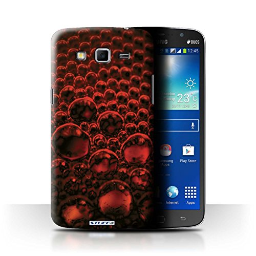 Var voor SGMN-CC Bubbles/Droplets Samsung Galaxy Mega 5.8 Rood