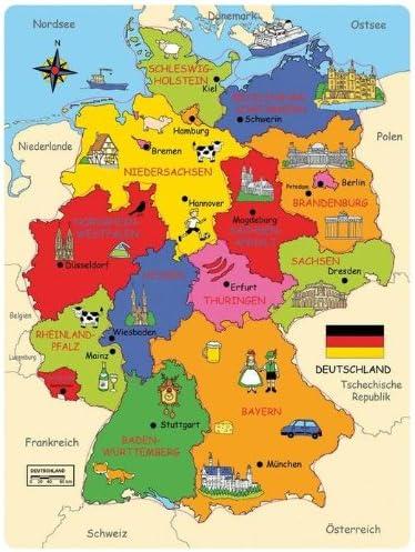 Hauptstadt deutschland karte bundesländer Deutschland Karte