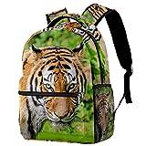 Leisure Campus - Mochilas de viaje con tigre de gato violento al aire libre con soporte para botellas para niñas y niños