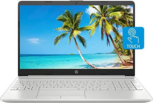 "HP 15 Laptop, 15.6"" HD Touchscreen, Intel Core i5-1135G7 Processor 2.4GHz to 4.2GHz, 16GB DDR4 Memory, 1TB Hard Disk Drive, Webcam, Backlit Keyboard, HDMI, RJ-45, Windows 10 Home, Silver, KKE Mousepad"