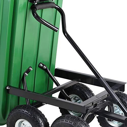 Deuba® Gartenkarre aus Kunststoff | Kippfunktion | Lenkachse | Luftreifen – Transportwagen Bollerwagen Muldenkipper Kippwagen Transportkarre Gartenwagen - 5