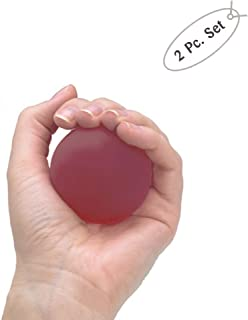 Soft Squeezable Hand and Finger Exercising Ball - Stress Relieving Tool (Set of 2)
