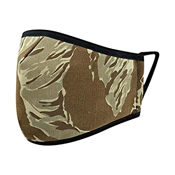 Reusable Washable Military Grade Cotton Blend Cloth Face Cover Made in USA  Desert Tiger Stripe 1