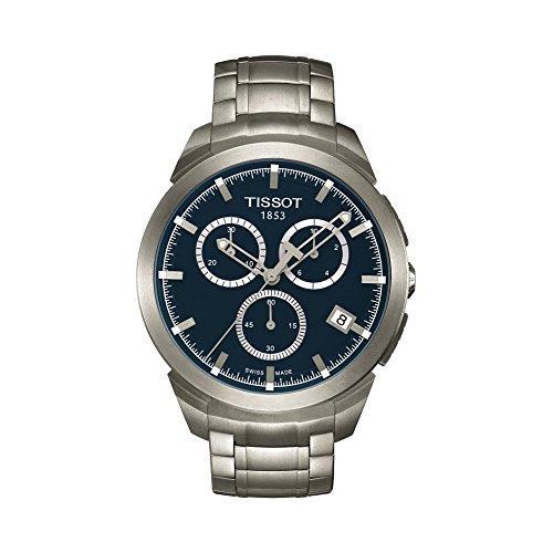 Tissot T-Sport T069.417.44.041.00 - Reloj de pulsera analógico para hombre (titanio, mecanismo de cuarzo, esfera azul)