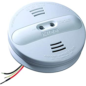 Kidde 21007915-N Dual Sensor AC Hardwire Interconnect Smoke Alarm, White