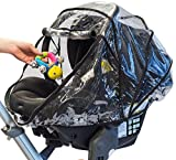 guzzie+Guss 3-in-1 Rain Cover, Fits Most Bassinets, Car Seats, and Pod Style Stroller Seats, Raincover Features...