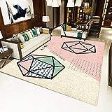 TTYAC Alfombra Grande, Moderna y Minimalista, para Sala de Estar, patrón geométrico, Alfombrilla para el Suelo, Alfombra de exhibición para el hogar, alfombras para Sala de Estar, SD-JO60,180x250cm