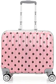 SMLCTY Trolley Case,carryon Luggage With Spinner Wheels,carry On Luggage With Spinner Wheels,Travel Rolling LuggageBoarding Practical And Beautiful 18 Inch Universal Wheel (Color : Pink)