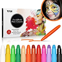 Paint Crayons Kit, Y.F.M Face&Body Paint Crayons, Safe, Non-Toxic Body Painting Sticks Kit, Easy to Use and Wash Off, Facepaint for Kids/Children, Water Based face Paints Makeup and Body Paint
