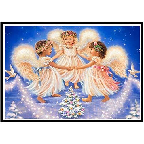 5d diy diamante pintura punto de cruz ángel religioso diamante bordado chica imagen paisaje diamante mosaico pintura A4 60x80 cm