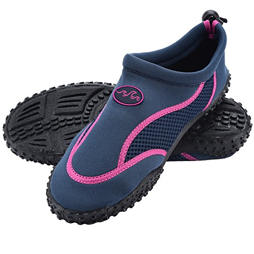 Deuba® Wasserschuhe Badeschuhe Surfschuhe Aquaschuhe Strandschuhe Damen Größe 40 blau/pink