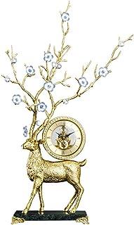 XFSE Campana de cobre ciervo/sala de estar, decoración de TV, decoración suave para el hogar, 40 x 13,5 x 72 cm (color: azul)