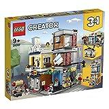 LEGO Creator NegoziodegliAnimali&Café 3 in 1, Set di Mattoncini Giocattolo con 3 Minifigure, Figure del Cane, del Tucano e del Topo da Costruire, 31097