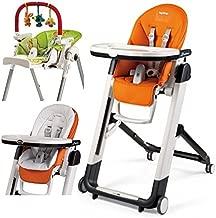 Peg Perego Siesta High Chair, With Baby Cushion & Play Bar (Arancia)
