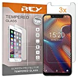 REY 3X Protector de Pantalla para UMIDIGI A3, Cristal Vidrio Templado Premium