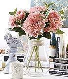 Famibay Fiore Artificiale 3 Pezzi Seta Ortensia Hydrangea Fiore Finto per Decorazioni(Rosa)