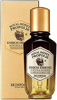 SKIN FOOD Royal Honey Propolis Enrich Essence 1.69 fl.oz. (50ml) - 63% Black Bee Propolis & Royal Jelly Extract Contained Powerful Nourishing Facial Essence, Skin Moisturizing & Radiant