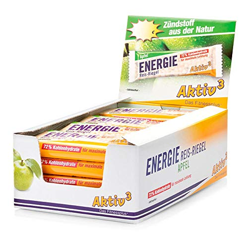 Sanct Bernhard Sport Energie Reis-Riegel Apfel - 20er-Packung