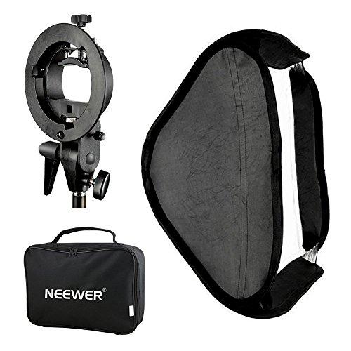 Neewer, diffusore Softbox Photo Studio, multifunzionale 80cm x 80cm (32 x 32 pollici) con supporto tracolla S-Type, borsa per il trasporto, set per flash Speedlite per ritratti