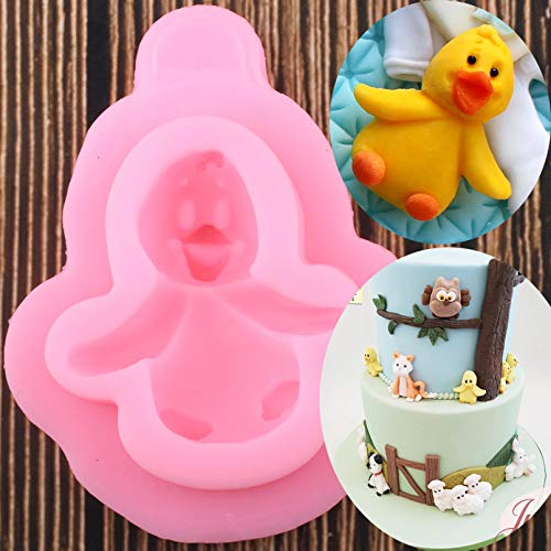 ZZYOU 3D Penguin Silicone Mold Animals Duck Fondant Diy Birthday Party Cake Decorating Tools Candy Resin Clay Chocolate Moulds