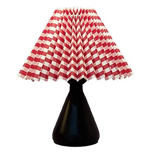 Lámpara de escritorio VIWIV Lámpara de mesa moderna y simple, lámpara de lectura junto a la cama para ni?as, lámpara de mesa de decoración del hogar, pantalla redonda, dormitorio, oficina, dormitorio,