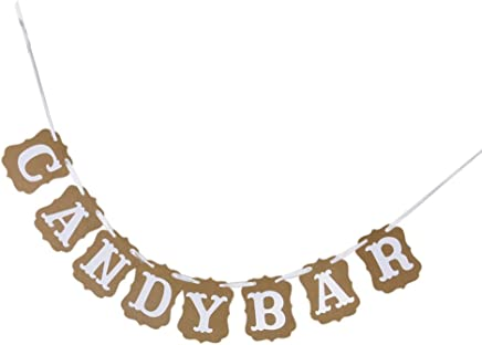 Candy Bar Party Decorations Bunting Banners