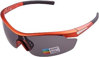 Unisex Sports Sunglasses Polarized Lens Cycling Baseball Running Fishing Golf Climbing Eyeglasses (Color : Orange)
