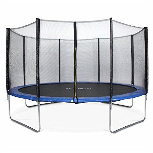 Alice's Garden - Cama elastica, Trampolin de 245 cm, aguanta hasta 150 kg (estructura reforzada). Incluye: red de protección- PLUTON