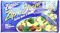 Ziploc Zip ' N Steam Cooking Bags、M、新しい値パックサイズ10-count (15個パック)