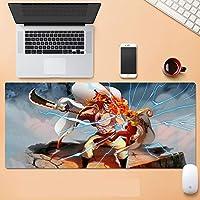 ワンピース大型ゲーミングマウスパッド ワンピースインチ XL 拡張マット デスクパッド ゴム製 One Piece マウスパッド Luffyデスク&マウスパッドワンピーステーブル-800*300*3mm-C_700*300*3MM
