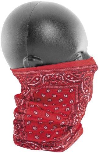 Zan Headgear Motley Tube Red Paisley One Size Fits All OSFA T106
