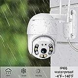 XONIER WiFi PTZ IP66 Waterproof 360° Rotate Security Camera (White)