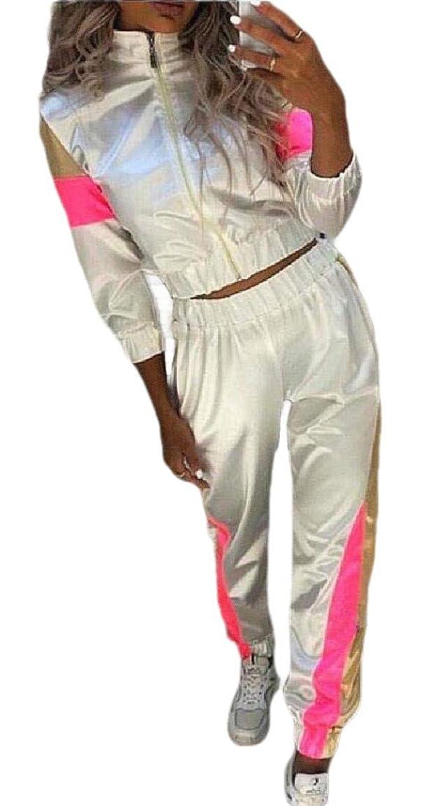 反響する周囲フレットWomen Tracksuit Set Two Piece Hoodie Jacket Jogger Pants Sweatsuit Activewear
