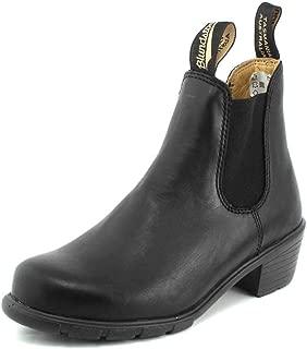 1671 Elastic Sided-Womens Block Boots B Black