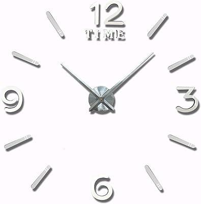 kaige Wall Clocks Large DIY wall clock wall sticker clock 3D living room bedroom decoration clock