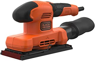 Black+Decker 150W 11,000 RPM Electric 1/3 Sheet Finishing Sander with Sanding Sheet and Dust Collector , Orange/Black - BE...