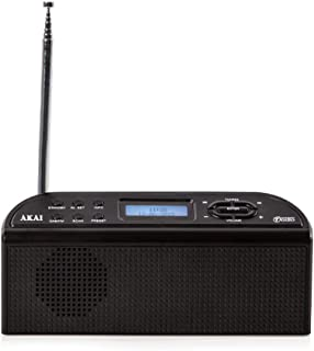 Akai A61016 DAB Digital Radio with LCD Display, Built-in Alarm Clock Functions, Crystal Clear Sound, Portable Lightweight ...