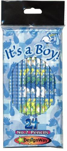 DesignWay It's a Boy 24-Pack No. 2 Pencil, Blue