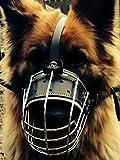 Nueva cesta de alambre de metal perro Bozal para pastor alemán Labrador etc. Totalmente acolchada K9