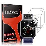 TAURI 6 Pack Protector Pantalla Apple Watch Series 7 41mm con Apple Watch 40mm Series 6 5 4 SE,TPU-HD Flexible Película de Sin Burbujas Sin Bordes Elevados Kit Fácil instalación Anti-Arañazo
