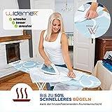 Widemex Exklusiver 5-Lagen Bügelbrettbezug inkl. 4 Spannclips | Bezugsgröße 115 x 35 cm (S) | Obermaterial widerstandsfähig und aus 100% Baumwolle | Made in Europe - 4