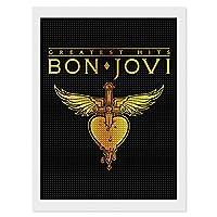 DIY5Dダイヤモンド絵画キット Bon Jovi Goldenボン・ジョヴィ・ゴールデン 30 x 40 Cm ラインストーン写真 壁アート モダン 油絵風景画 アート おしゃれ お風呂の装飾 クリスタルラインストーン 刺繡絵画写真 背景絵画